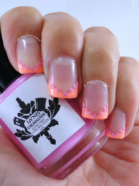 Neon French Tipped Nails