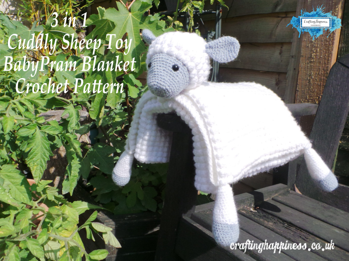 Crochet Pattern 3 In 1 Decorative Cuddly Sheep Toy Baby