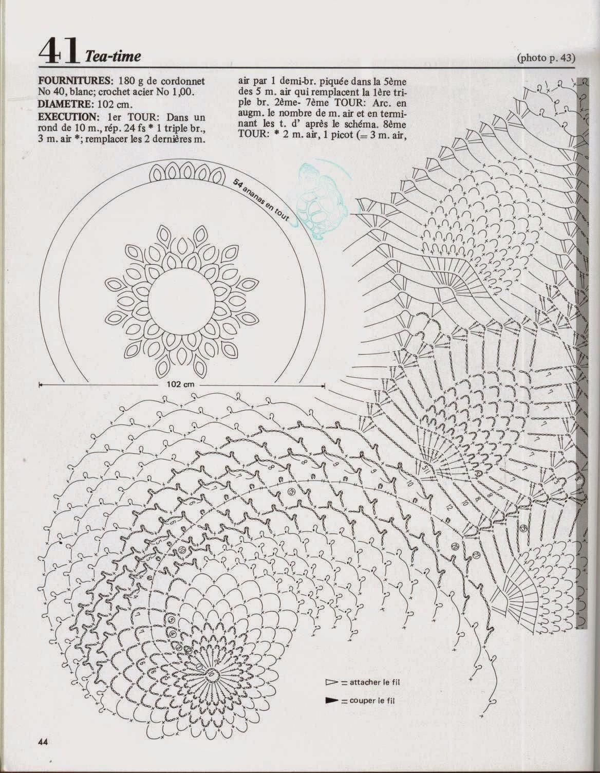 Kira scheme crochet: Scheme crochet no. 882