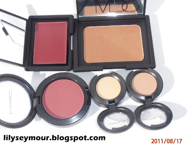 Nars Casino, Nars Montenegro Mac Fever, Mac Rice Paper, Mac Soft Brown