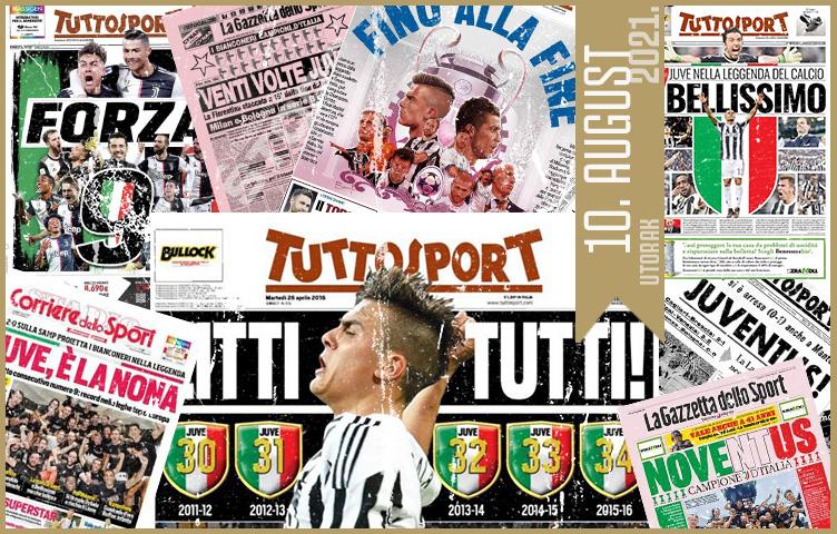 Italijanska štampa: 10. august 2021. godine