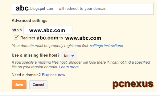 blogger redirect