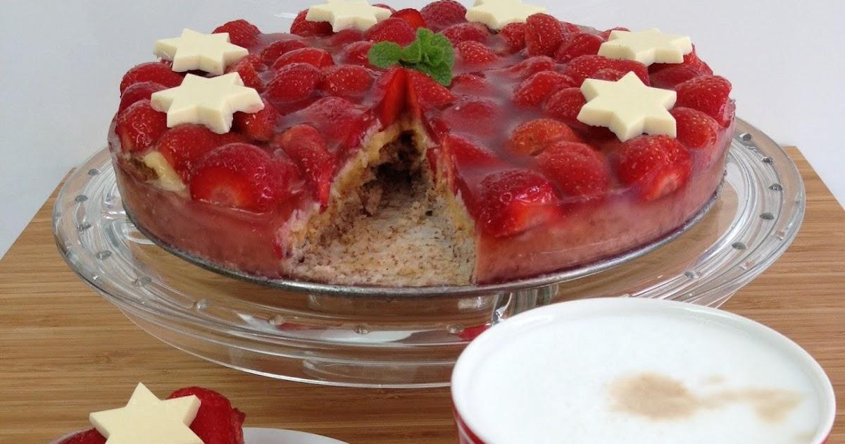 Ik hou van bakken: Aardbeien succes taart (glutenvrij) Almondy Taart Glutenvrij