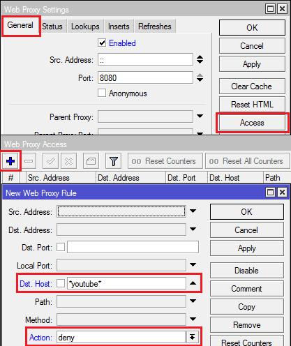 Web proxy on mikrotik