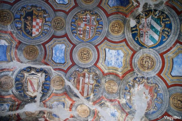 Soffitto dell'ingresso alla Rocca Sanvitale