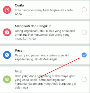 download pesan terhapus messenger facebook