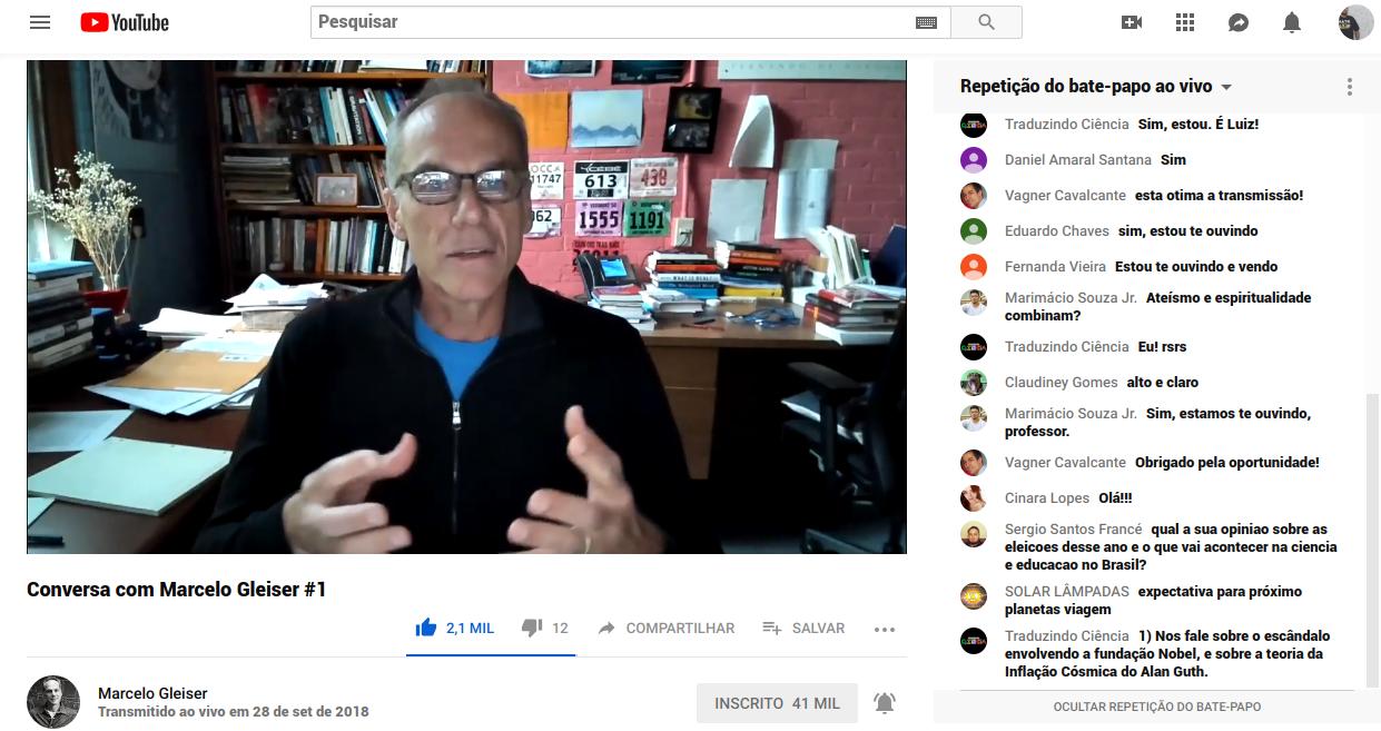 #13 Dica imperdível de canal no Youtube: Marcelo Gleiser 👍