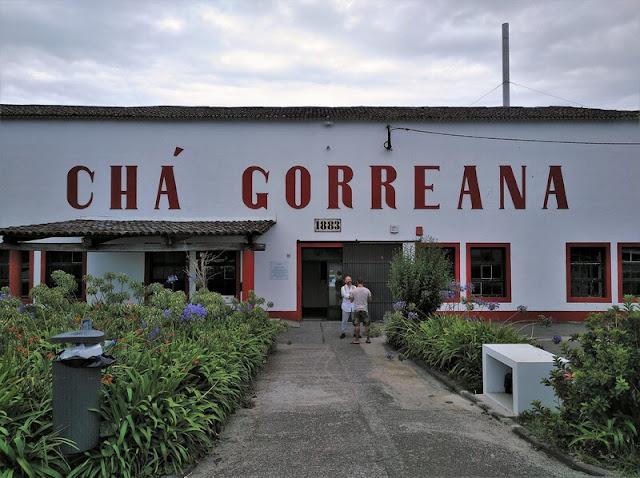 Entrada a la Plantación y Fábrica de Chá Gorreana en Azores