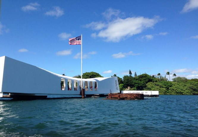 USS Arizona Memorial, in Hawaii