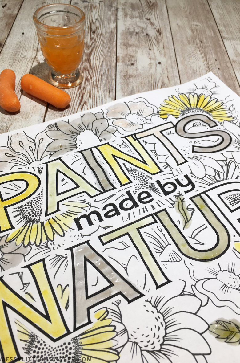 nature paint made with carrots