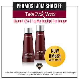 Promosi Vivix Shaklee Twinpack Disember 2019