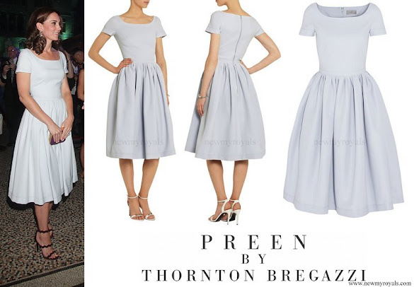 Kate Middleton wore Preen by Thornton Bregazzi Everly stretch-crepe dress