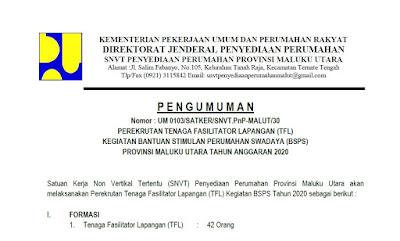 Pengumuman Perekrutan Tenaga Fasilitator Lapangan (TFL)