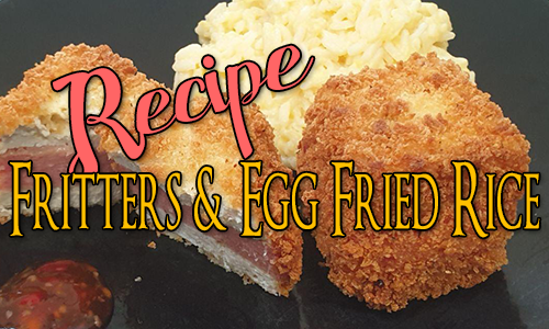 Tofu & Spam Fritters with Egg Fried Rice