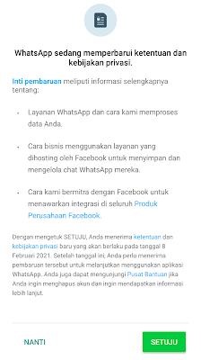 Kebijakan privasi baru whatsapp berlaku 8 februari 2021
