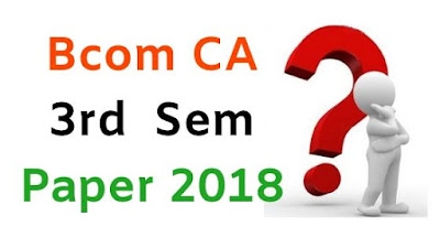 BCom (CA) 3rd Sem Question Papers 2018 Mdu (Maharshi Dayanand University)