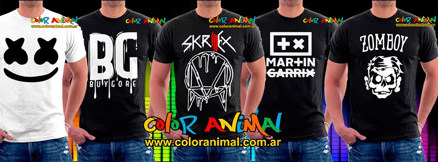 Remeras Color Animal