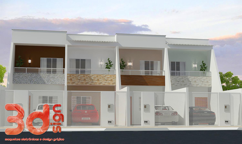 3dsign fachadas casas geminadas for Modelos de casas fachadas fotos