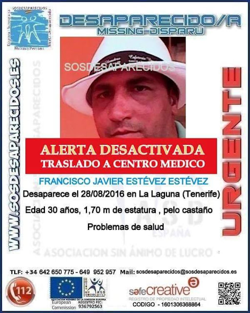 Hallado hombre desaparecido La Laguna, Tenerife, buen estado