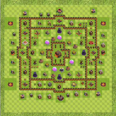 War Base Town Hall Level 10 By Alonx Uaq (Welly TH 10 Layout)