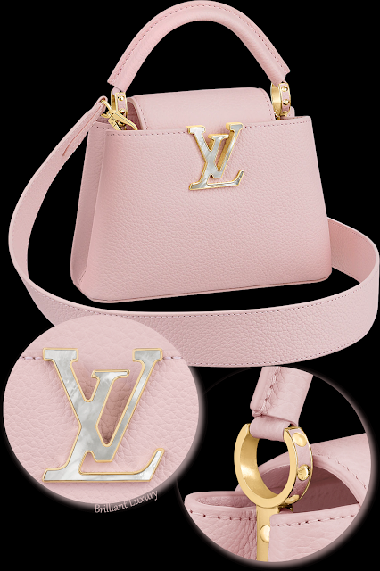Louis Vuitton Capucines mini feminine rose poudré pink taurillon leather bag #brilliantluxury
