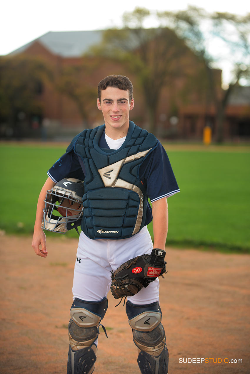 Senior Picture Guy Baseball theme Skyline - SudeepStudio.com Ann Arbor Senior Pictures Photographer