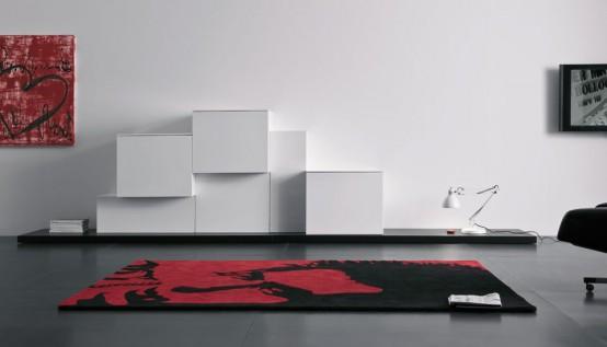 Contemporary tv cabinet designs – new modern wall modular storage system