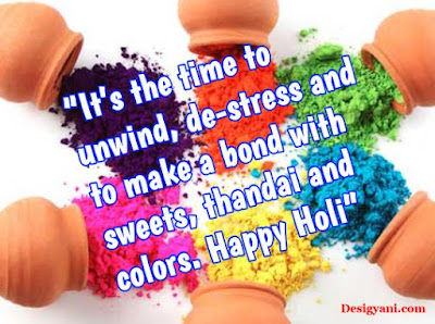 thandai and colors, Happy Holi