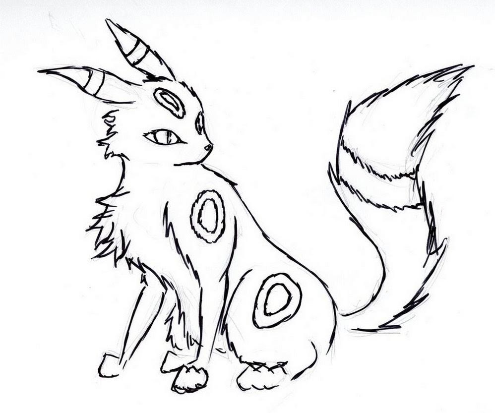 Umbreon Pokemon Coloring Pages Printable Free Pokemon Coloring Pages