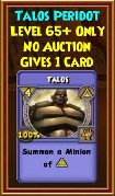 Talos - Wizard101 Card-Giving Jewel Guide