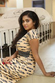 Telugu Actress Karunya Chowdary Stills in Short Dress at ATM Not Working Press Meet  0199.jpg
