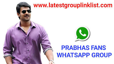 Join 1500+ Prabhas Fans Whatsapp Group Links 2020