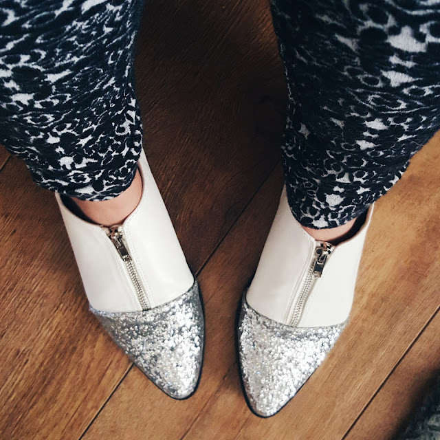 asos mayor glitter point shoes
