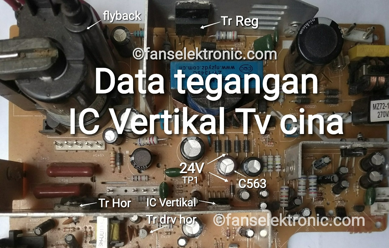 Data Standar Tegangan IC Vertikal TV Cina Dan Kerusakan