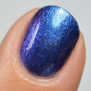 blue to purple multichrome nail polish