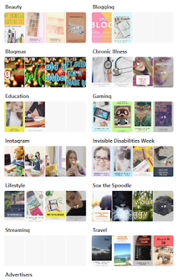 screenshot of Amy's boards on Pinterest
