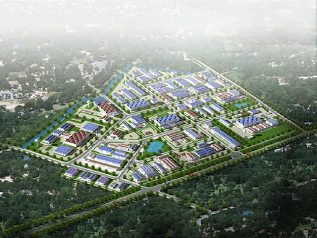 Phối cảnh khu công nghiệp Thạch Thất, Quốc Oai, Hà Nội