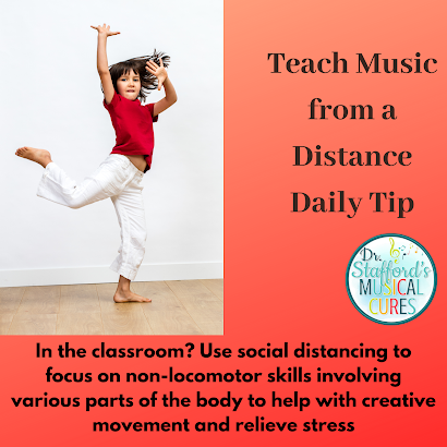 Focus on non-locomotor skills in distance teaching in music