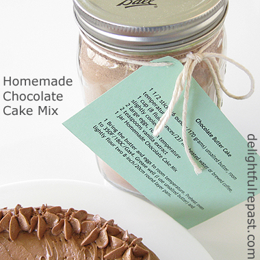 Homemade Chocolate Cake Mix / www.delightfulrepast.com