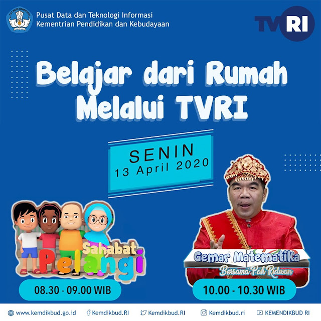 Panduan Pembelajaran Jarak Jauh melalui TVRI