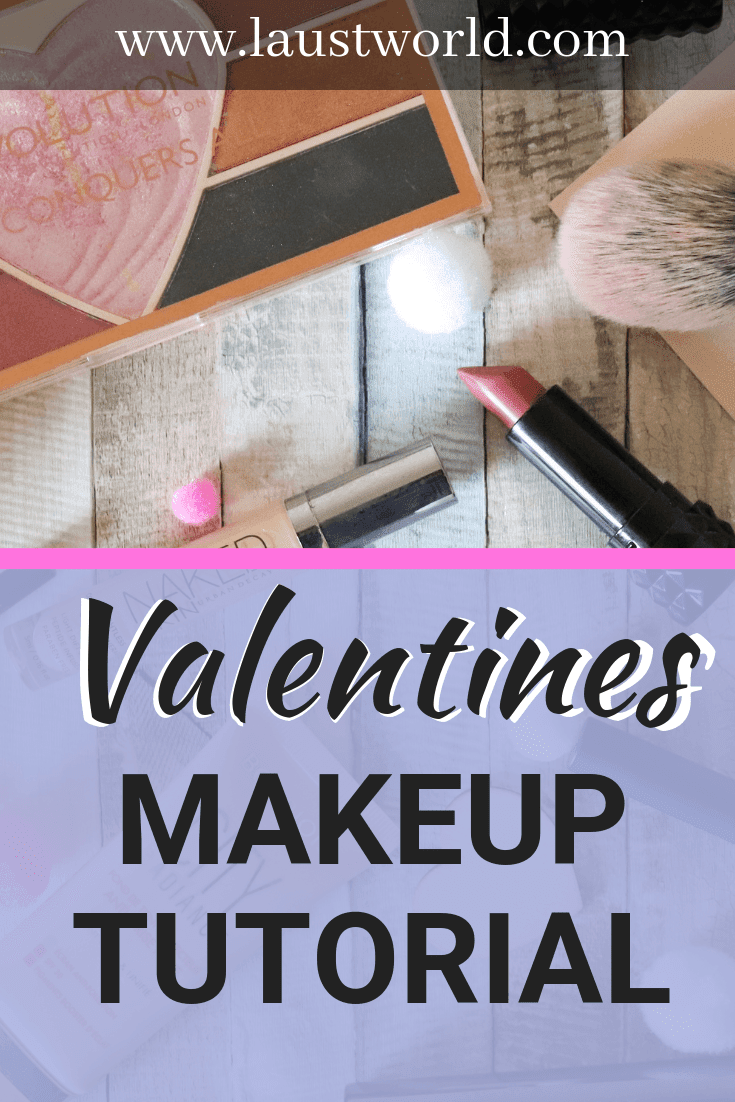 Pinterest image that says valentines inspired makeup look