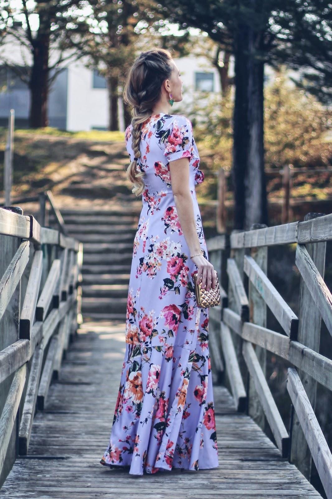 vestido boda lila