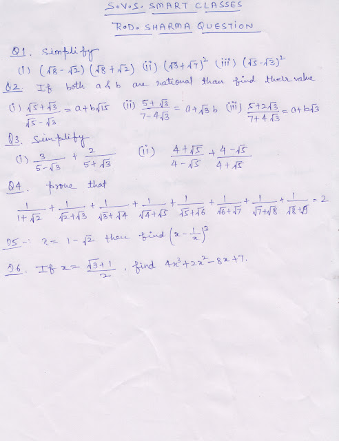 imp questions class 9th