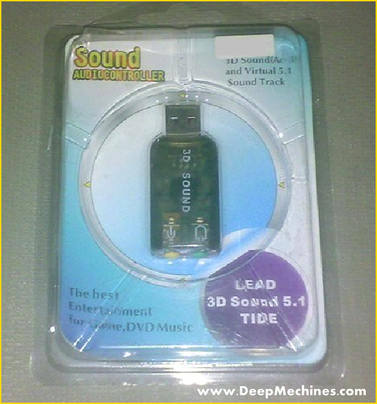 Sound Card USB - PC (Desktop/ Laptop/ Notebook) pengganti  Sound Card  Onboard yang sudah rusak