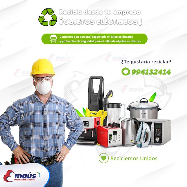 Recicla objetos eléctricos