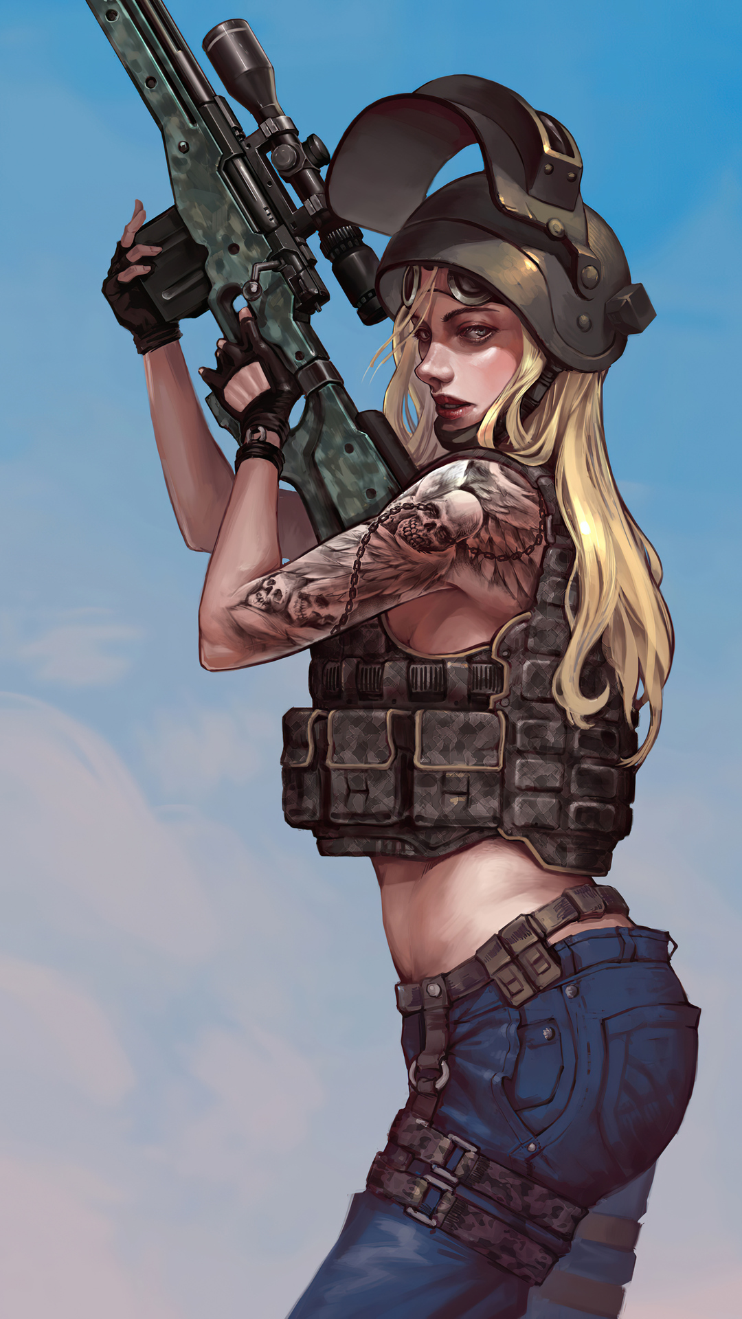 Pubg Tattoo Girl Gamer Wallpaper