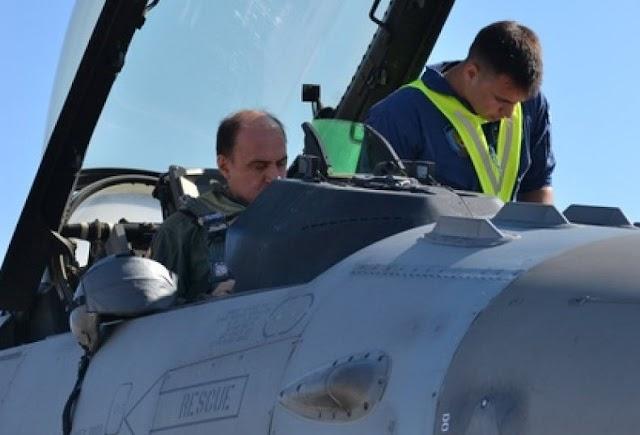 «Ιπτάμενος» ο Α/ΓΕΑ στην 116 ΠΜ με μονοθέσιο F-16C Block52+ ADV (ΦΩΤΟ)