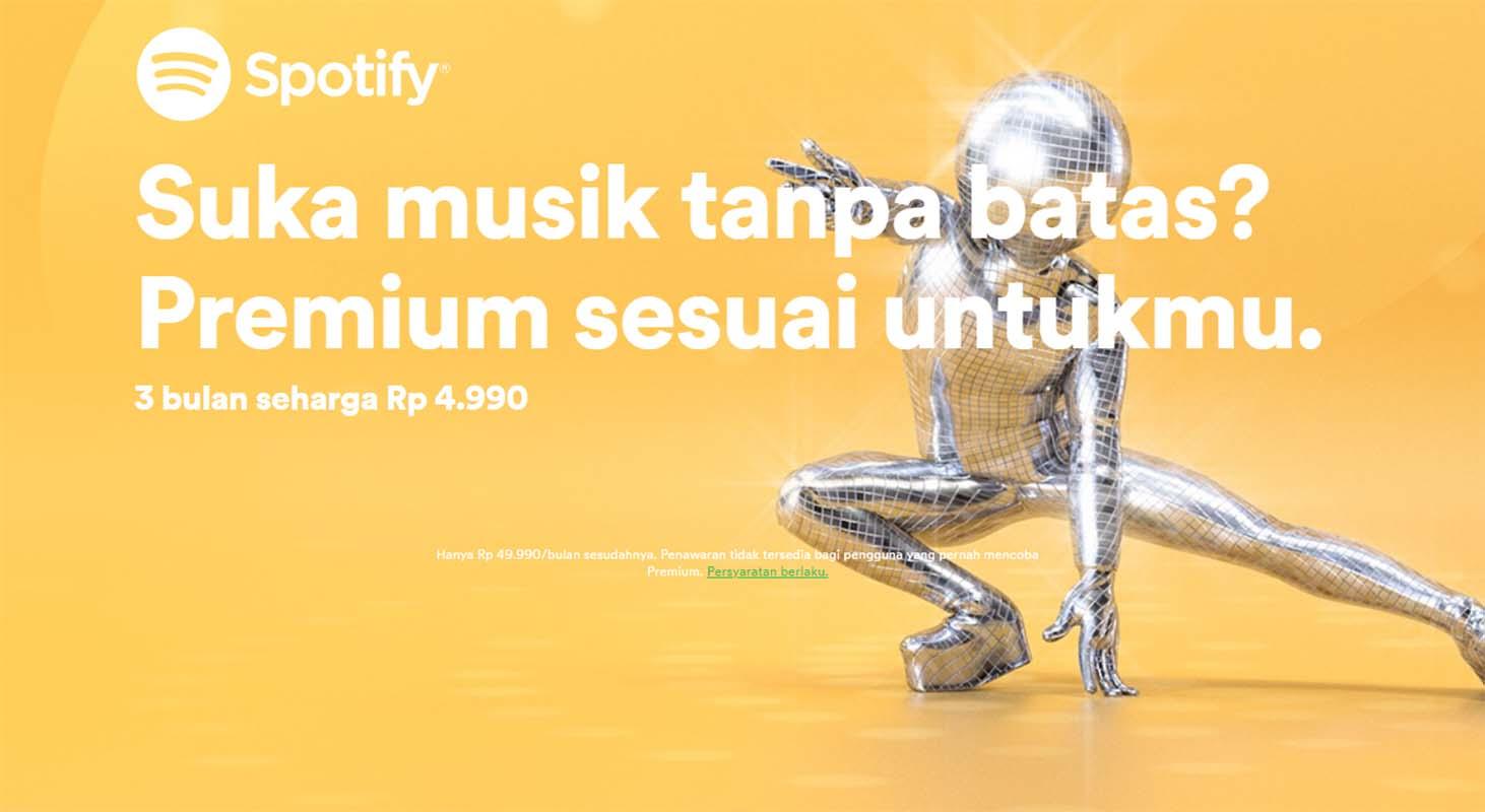 Buruan Dapatkan Spotify Premium Untuk 3 Bulan Seharga Rp. 4.990