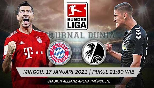 Prediksi Bayern Munich vs Freiburg, Senin 18 Januari 2020 Pukul 21.30 WIB @Mola TV