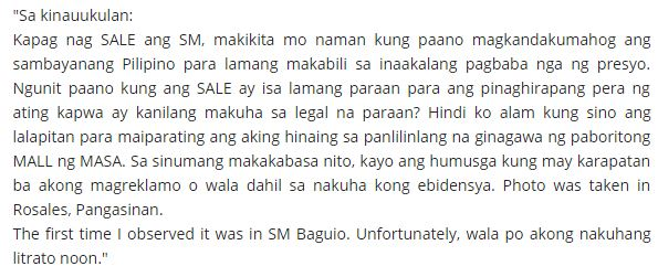 'PEKENG SALE SA SM STORE?': Netizen Posted Proof Showing That The Discounted Price Is Bigger Than The Original Price!
